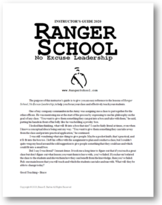 Ranger School, No Excuse Leadership Instructor's Guide