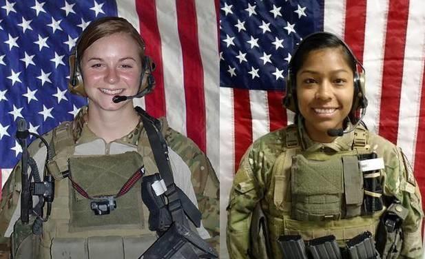 LT Ashley White-Stumpf and CPT Jennifer Moreno